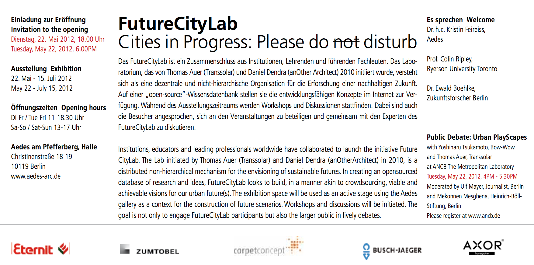 FutureCityLab – PLEASE DO DISTURB!