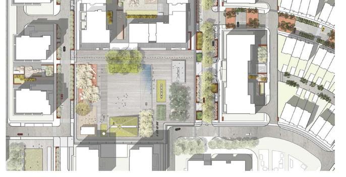 new landscape design project in Moscow